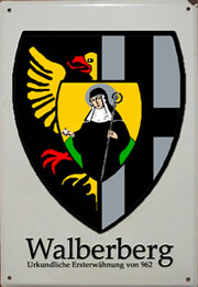 Emaille-Schild - Walberberger Ortswappen